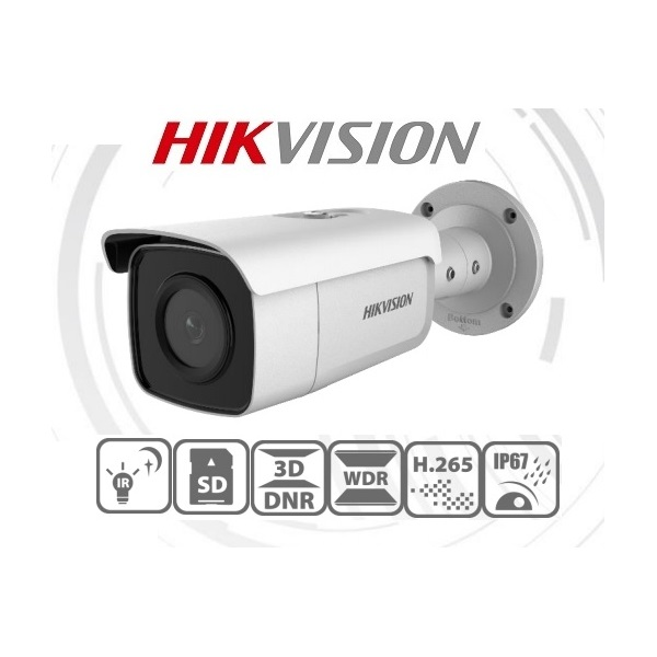 Hikvision IP csőkamera - DS-2CD2T46G1-4I (4MP, 2,8mm, kültéri, H265+, IP67, IR80m, ICR, WDR, SD, PoE, Darkfighter)